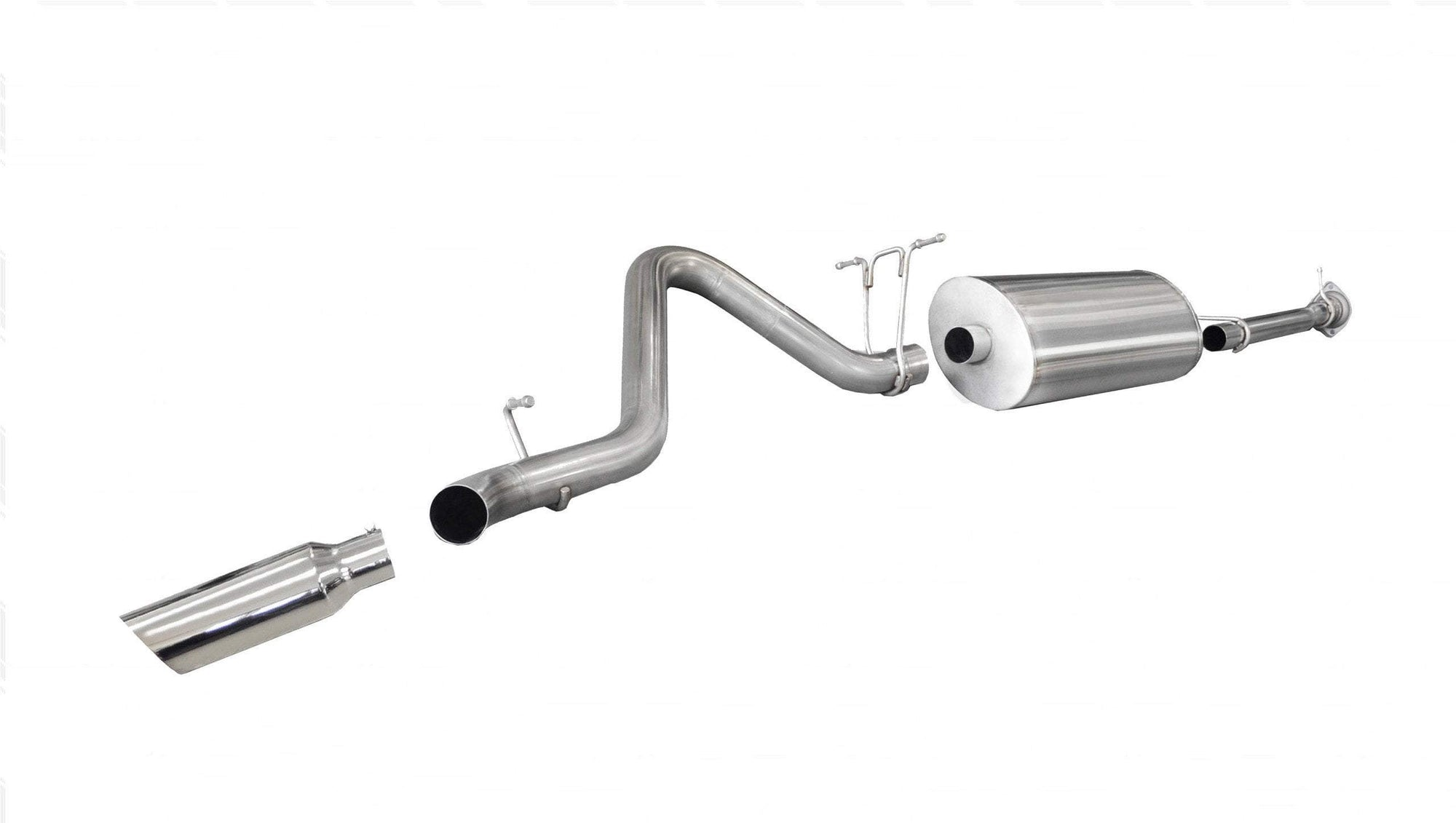 "dB Cat-Back Exhaust Polished / Sport / Single Side - Single 4in 2011-2014 Chevolet Silverado, GMC Sierra 6.0L V8, 3.0"" Catback Exhaust System with 4.0"" Tip (24796) Sport Sound Level"