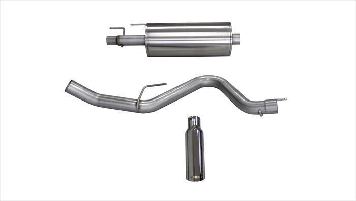 "dB Cat-Back Exhaust Polished / Sport / Single Side - Single 4in Slash Cut 2015-2019 Ford F-150 2.7L & 3.5L Ecoboost 3.0"" Catback Exhaust System with 4.0"" Tip (24836) Sport Sound Level"
