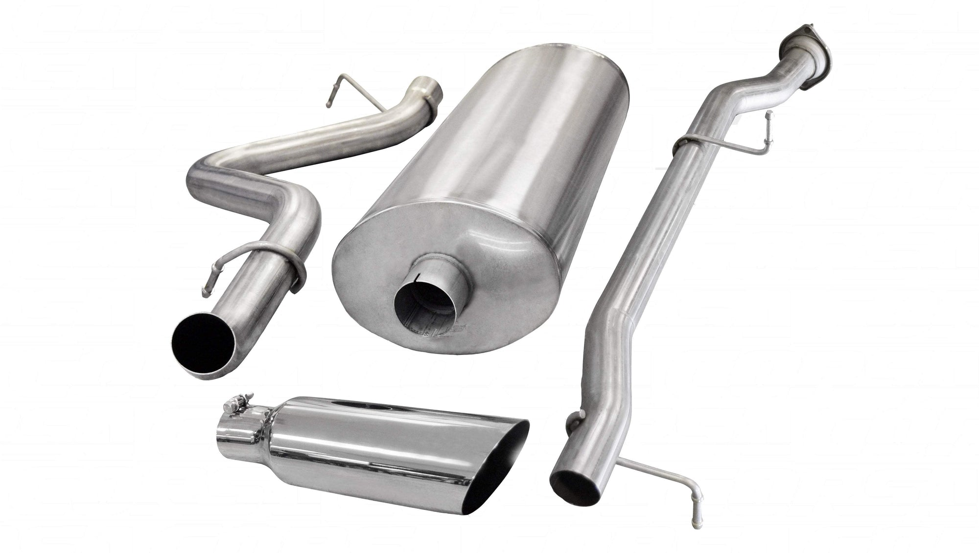 "dB Cat-Back Exhaust Polished / Sport / Single Side - Single 4in 2007-2010 Chevrolet Silverado, GMC Sierra 6.0L V8, 3.0"" Catback Exhaust System with 4.0"" Tip (24890) Sport Sound Level"