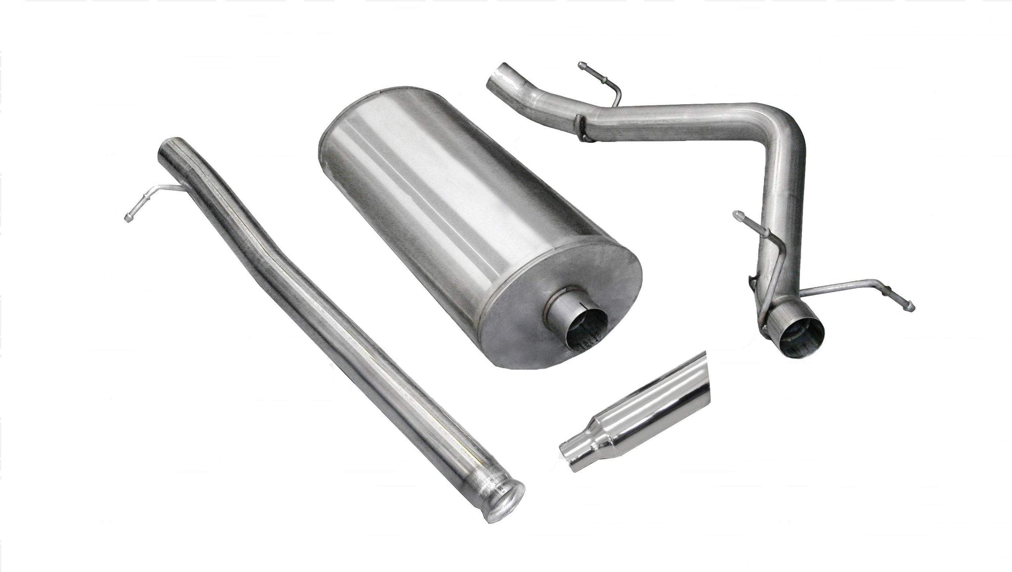 "dB Cat-Back Exhaust Polished / Sport / Single Side - Single 4in 2009 Chevrolet Silverado, GMC Sierra, 4.8L, 5.3L, 6.0L V8, 3.0"" Single Side Exit Catback Exhaust System With 4.0"" Tip (24904) Sport Sound Level"