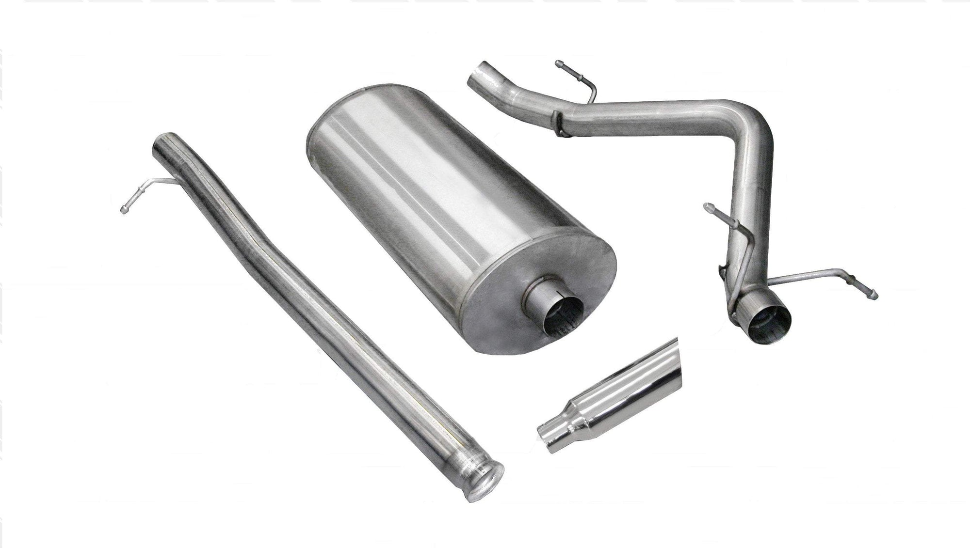 "dB Cat-Back Exhaust Polished / Sport / Single Side - Single 4in 2010-2013 Chevrolet Silverado, GMC Sierra 4.8L, 5.0L, 6.0L V8, 3.0"" Catback Exhaust System With 4.0"" Tip (24905) Sport Sound Level"
