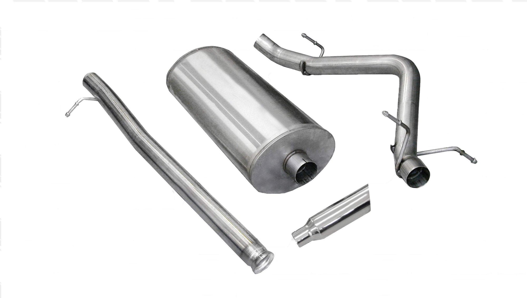 "dB Cat-Back Exhaust Polished / Sport / Single Side - Single 4in 3.0"" Single Side Exit Cat-Back Exhaust System with 4.0"" Tip (24920) Sport Sound Level"