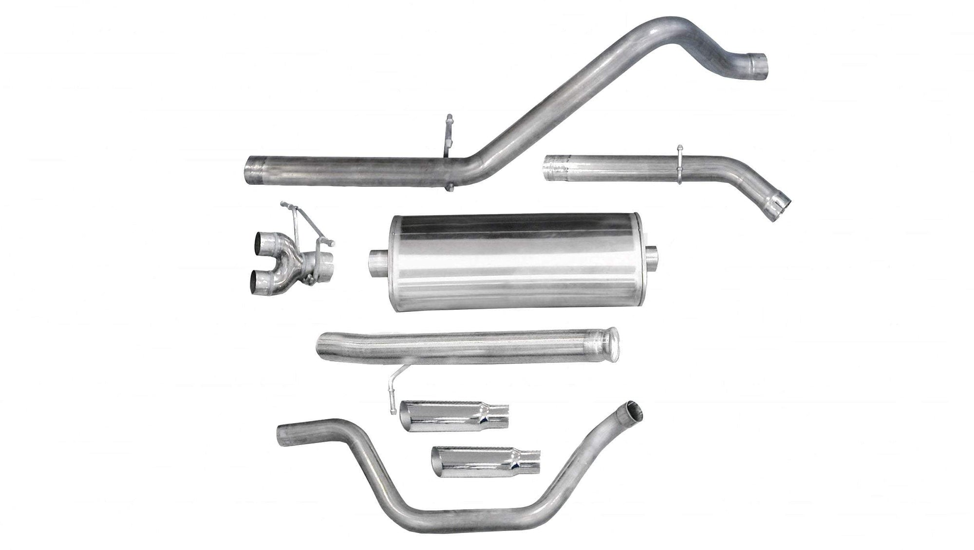 "dB Cat-Back Exhaust Polished / Sport / Single Side - Single 4in 3.0"" Dual Rear Exit Cat-Back Exhaust System with 4.0"" Tips (24921) Sport Sound Level"