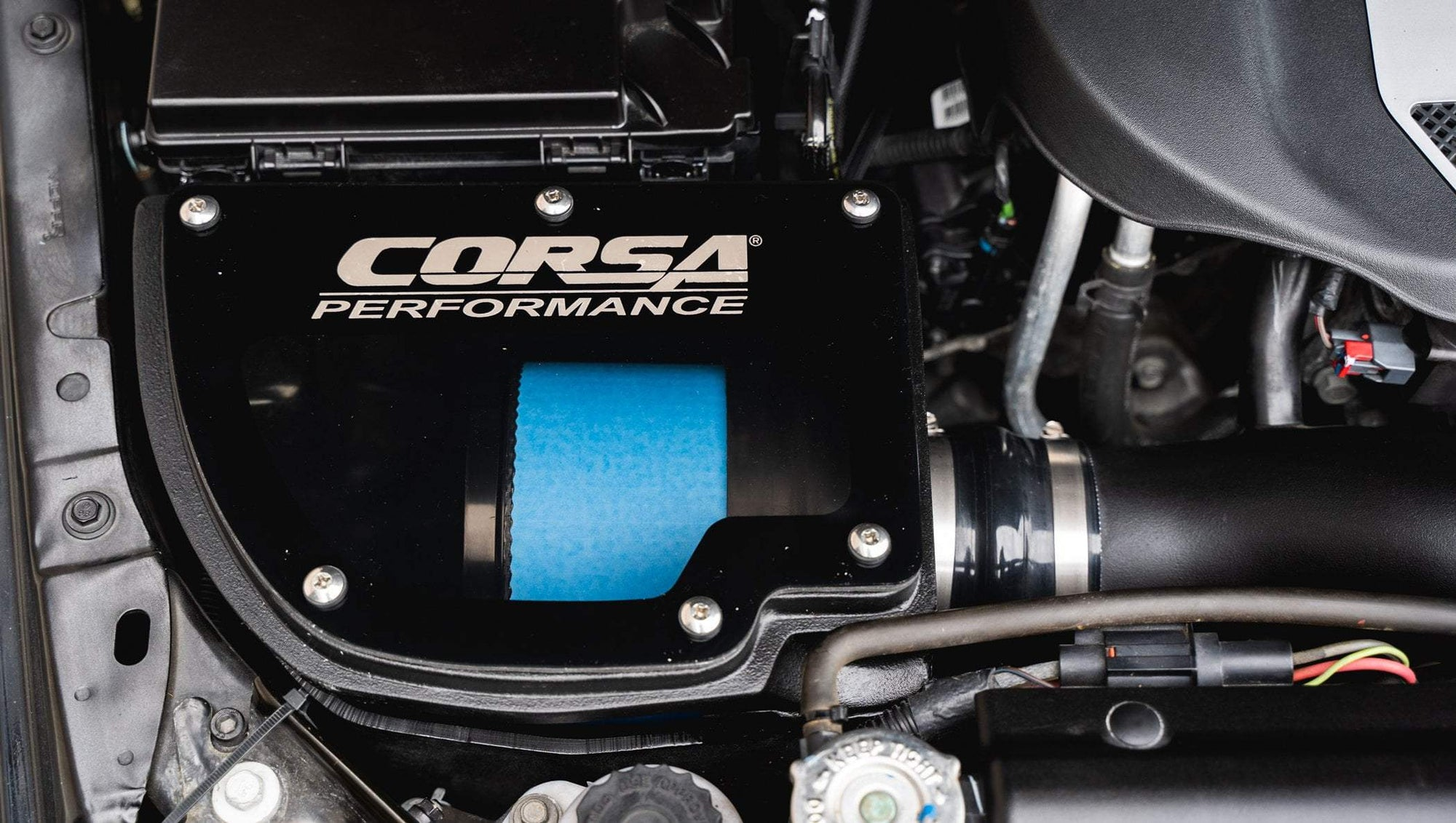 CORSA PERFORMANCE Air Intake 2012-2018 Jeep Wrangler JK, PowerCore Closed Box Cold Air Intake (44412)