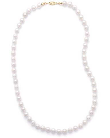 "24"" 6.5-7mm Grade AAA Cultured Akoya Pearl Necklace"
