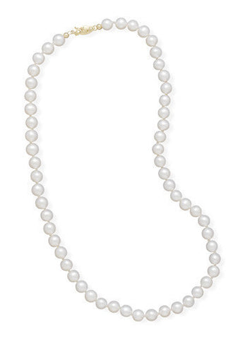 "24"" 5.5-6mm Cultured Freshwater Pearl Necklace"