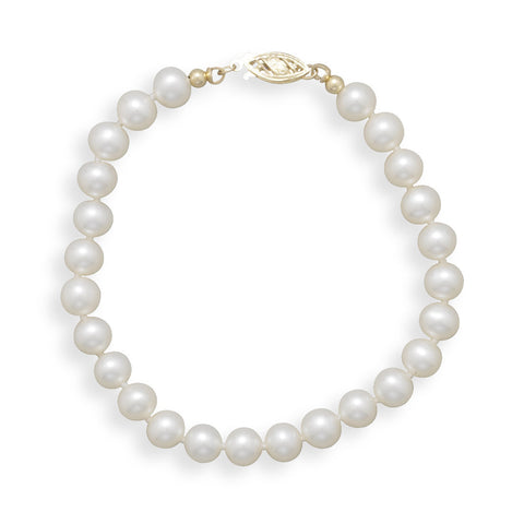 "7"" 6-6.5mm Cultured Freshwater Pearl Bracelet"