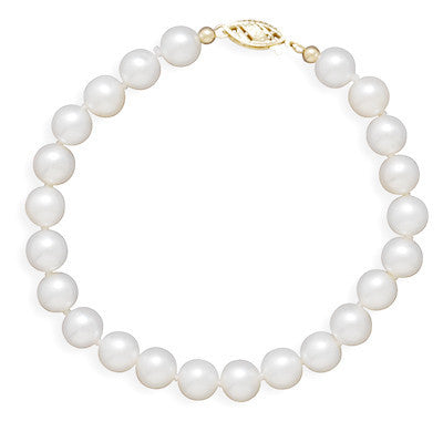 "8"" 6.5-7mm Cultured Freshwater Pearl Bracelet"
