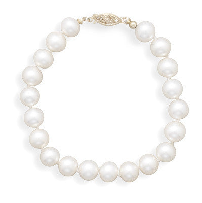 "8"" 7-7.5mm Cultured Freshwater Pearl Bracelet"