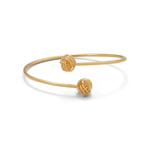14 Karat Gold Plated Flex Tube Knot Bangle