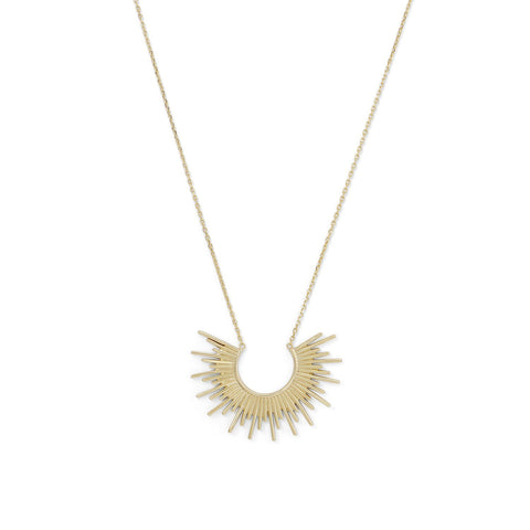 14 Karat Gold Plated Sunburst Necklace