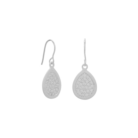 Shimmer Drop CZ Earrings