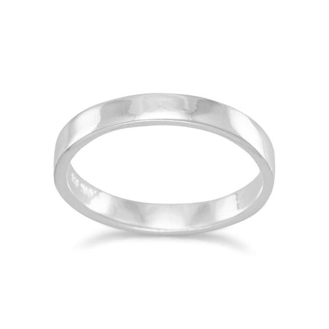3mm Polished Square Band Ring