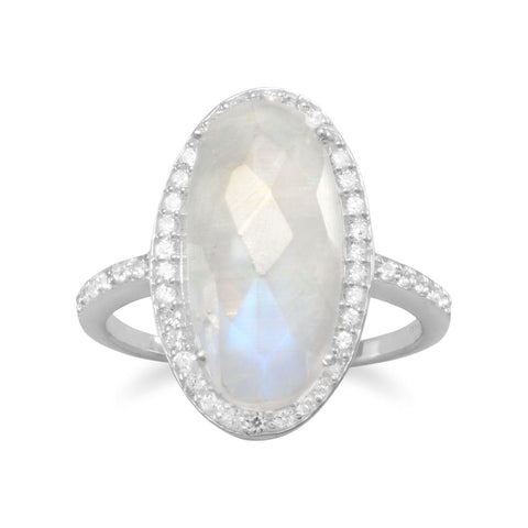 Gorgeous Rainbow Moonstone Ring