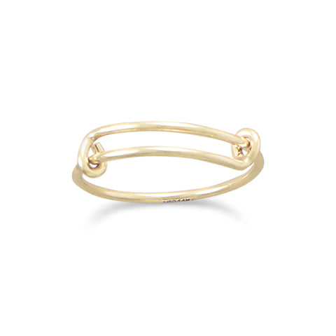 Small 14/20 Gold Filled Expandable Add-a-Charm Ring