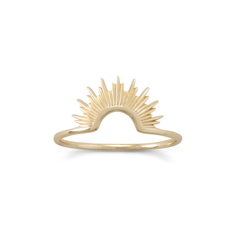 14 Karat Gold Plated Sunset Ring