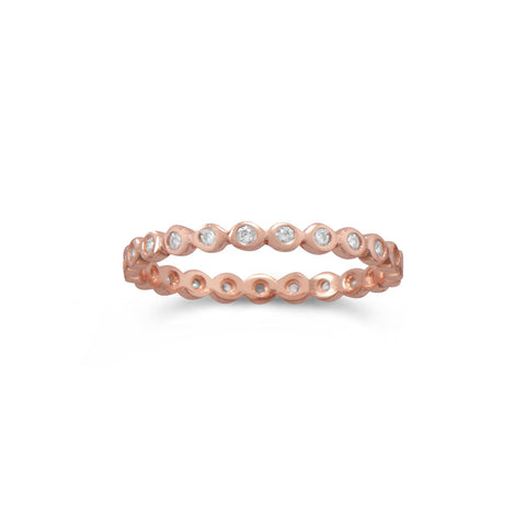 14 Karat Rose Gold Plated Eternity Ring