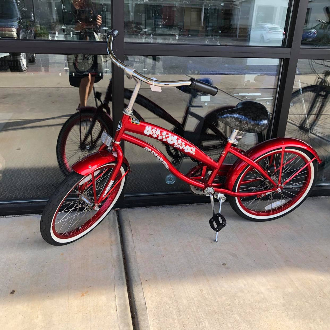 GreenLine Women's Beach Red Bike 20'', Pre-owned item #356212a