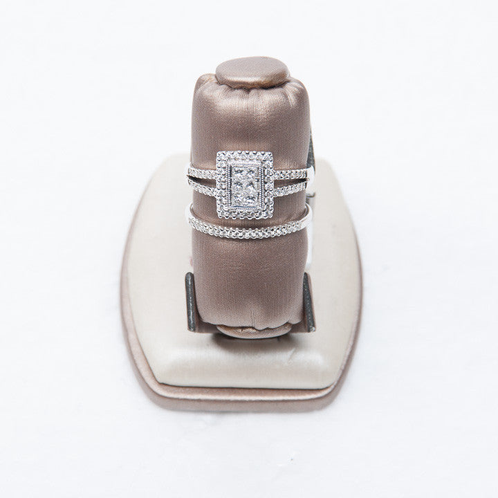 .25 CT PRINCESS CUT DIAMOND SET WITH SPLIT SHANK IN 14KW GOLD, New Item #22293WCG-WS