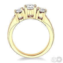 2 Ctw Nine Stone Round Cut Diamond Engagement Ring in 14K Yellow Gold ASHI Style, New #24200FC-LE-2.00