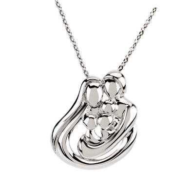 Sterling Silver Embraced by the Heart™ Family Necklace
