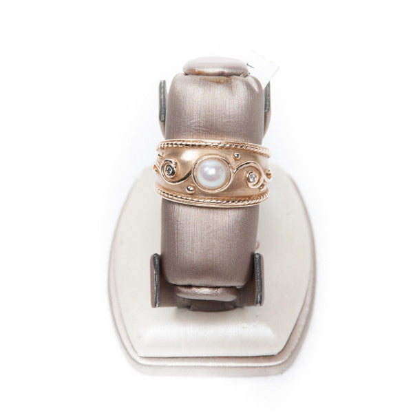 LADIES PEARL FASHION RING IN 14KY #279056A