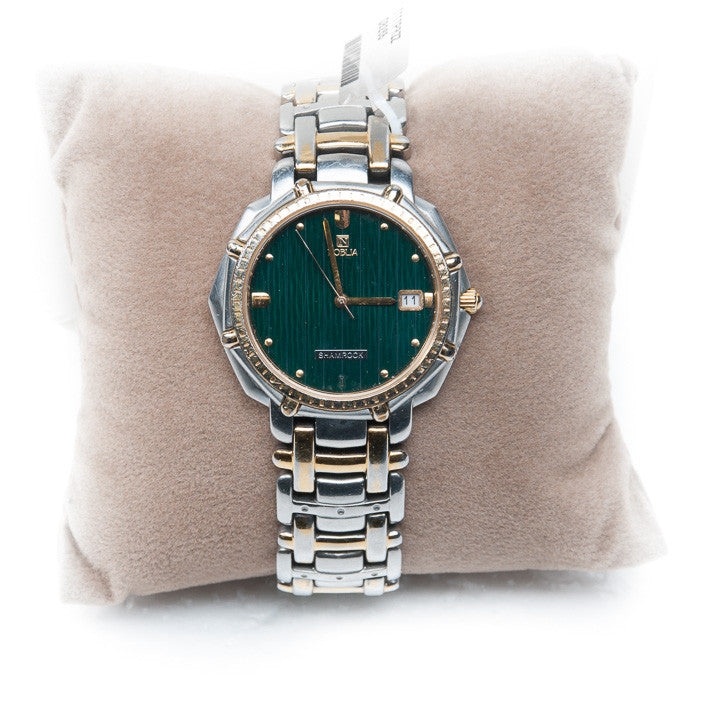 Nobilia Green Face Watch, this is Pre-Owned Item #320449B