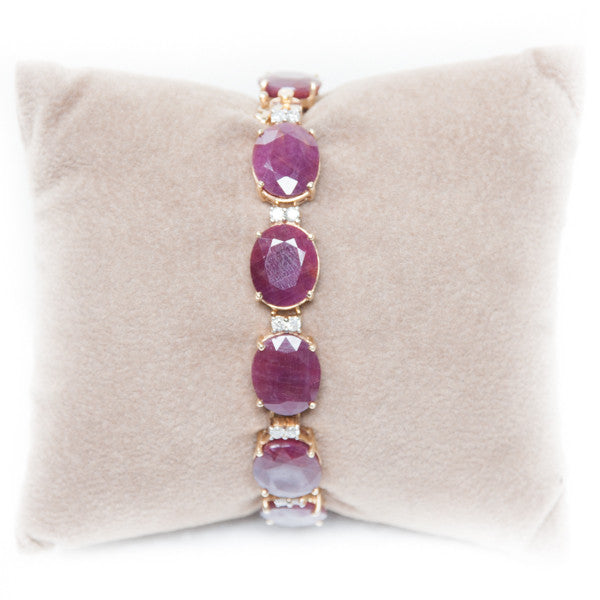 50CT RUBY AND DIAMOND BRACELET IN 14KY #330630d