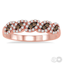 1/3 Ctw White and Champagne Brown Diamond Ring in 14K Pink Gold ASHI Style New #34995FHPG