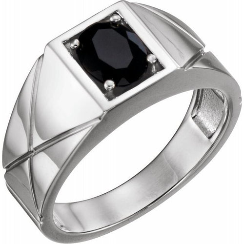 Men's 925 Sterling Silver Onyx Ring Size 11, New item #9839:603:P