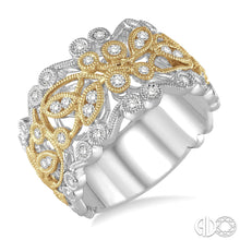 1/2 Ctw Round Cut Diamond Fashion Ring in 14K White and Yellow Gold ASHI Style New #35643FHWY
