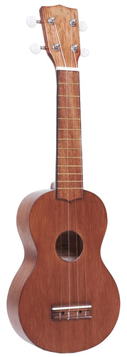 Mahalo Kahiko Series Soprano Ukulele, Trans Brown w/Bag, New#MK1TBR