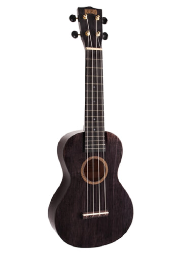 Mahalo Hano Wide Neck Concert Uke, Transparent Black, New #MH2WTBK