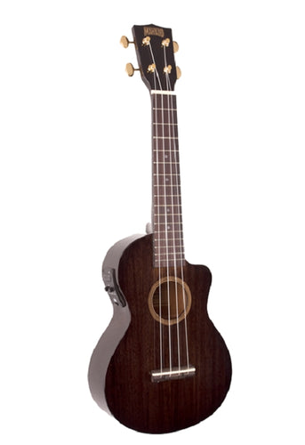 Mahalo Hano Elite Concert Cutaway w/Electronics, Transparent Black, New #MH2WTBK