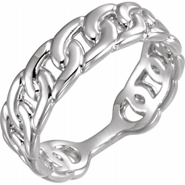 Ladies Sterling Silver Interlocking Stackable Link Ring Sz. 7, New item #51671
