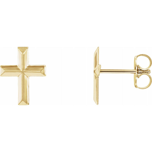14K Yellow Cross Earrings, New item #R16503KIT