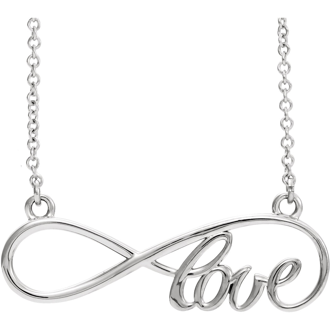 14K Yellow or White Gold Love Infinity-Inspired 17