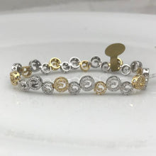 Ladies 18 K Two-Tone 1.25CT Diamond Bracelet, NEW #C/OUTB