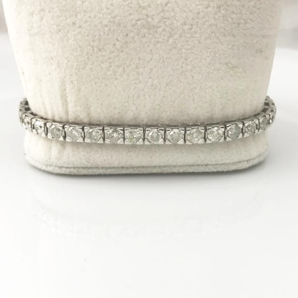 14K WHITE GOLD DIAMOND TENNIS BRACELET, 11.9DWT ,6.48 TW #314318G