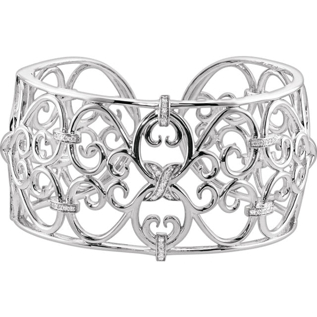 Filigree Scroll Cuff Bracelet, New item #68702