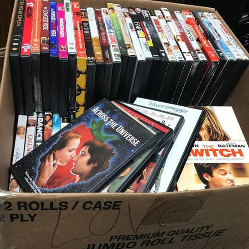 WHOLESALE LOT of 100 DVD Variety Love Comedy Movies - wholesale Set,  w/List, this is Pre-Owned Item #100DVD2