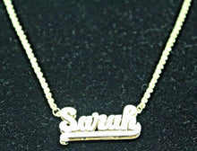14KY SOLID GOLD ROPE CHAIN DIAMOND NECKLACE  SARAH NAME PENDANT, 13 Grams #341186E