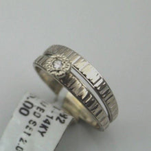 Ladies 14KW Solid Gold Hammered Bridal Engagement Ring Set Wedding Set,  sz 6.75, this is Pre-Owned Item #285482