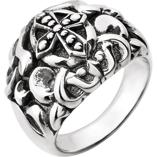 Sterling Silver Men's Cross Fashion Ring, New item #650986