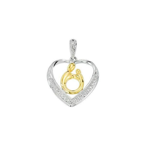 Mother & Child® Heart Pendant Sterling Silver, this is New Item #68316:100:P