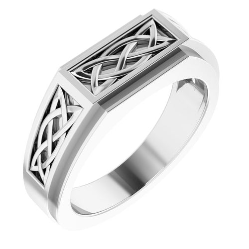 Men's Sterling Silver Celtic-Inspired Ring Sizes 9-13, New item  #9847:105:P