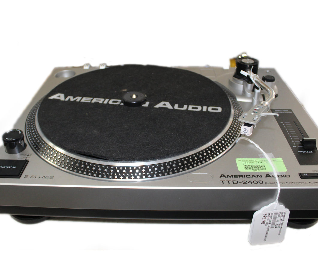 American Audio TTD 2400 Turntable, this is  Pre-Owned Item #345703