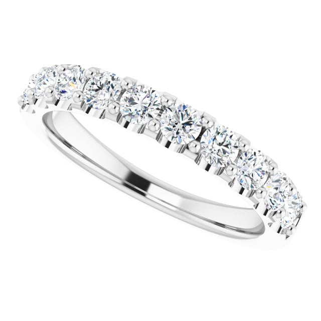 Ladies 14K White Gold 3/4 CTW Lab-Grown Diamond Anniversary Band, New item #123041:LG101:P