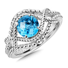 Colore Sg Sterling Silver Blue Topaz Ring, New item #LVR662-BT