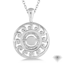 1/20 Ctw Diamond Emotion Pendant in Sterling Silver with Chain ASHI Style #80029SXSLPD